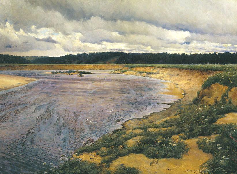 Илья Остроухов, 1890 годы, картина «Сиверко».
