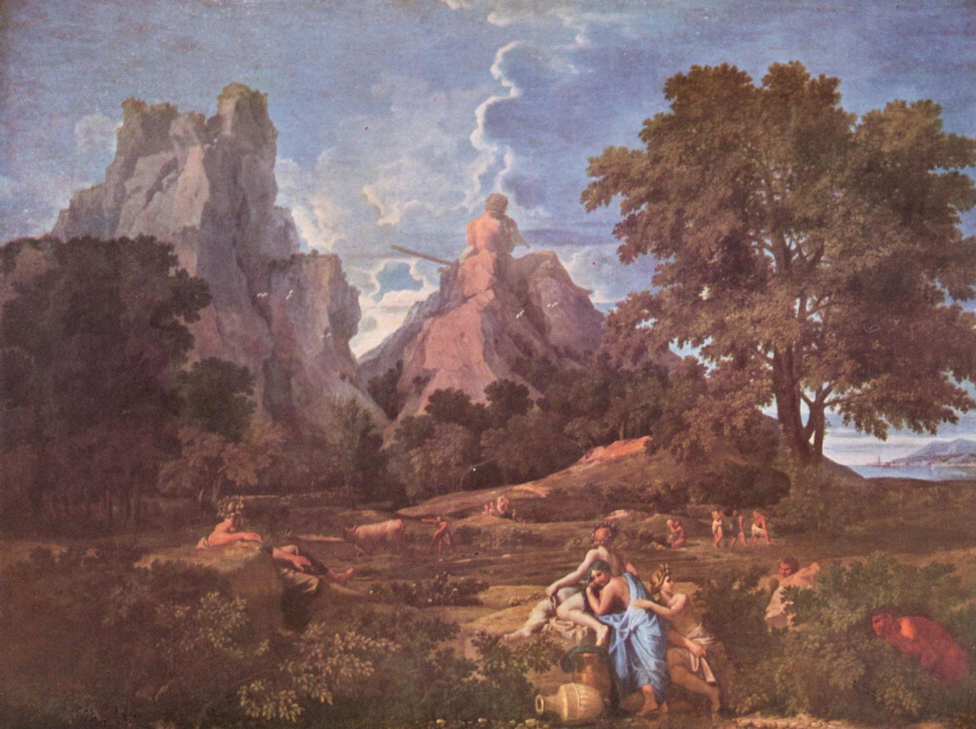 Никола Пуссен, 1649 год, картина «Пейзаж с Полифемом».