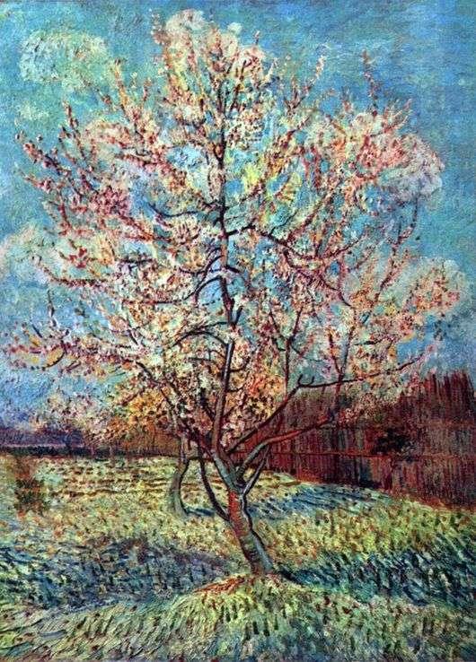 """Описание картины """"Персиковое дерево в цвету"""" Винсента Ван Гога"""