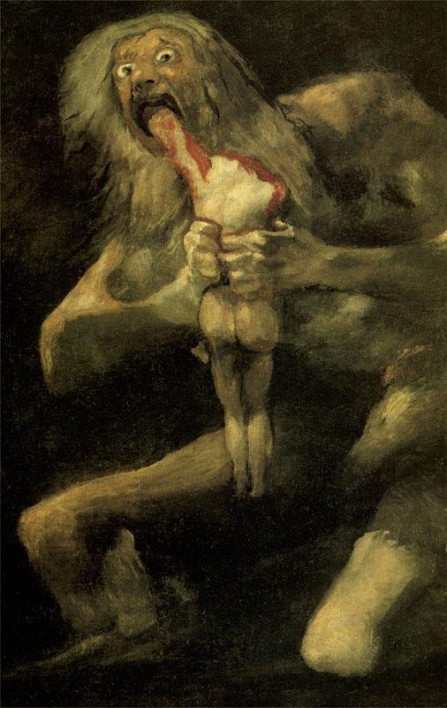 """Описание картины """"Сатурн, пожирающий своего сына"""" Франсиско Гойи"""