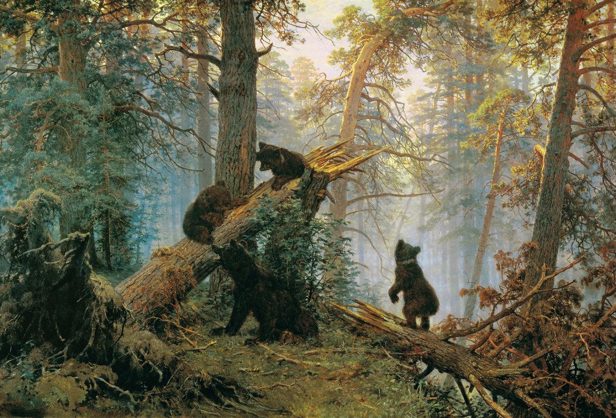 """Описание картины Шишкина """"Утро в сосновом лесу"""""""