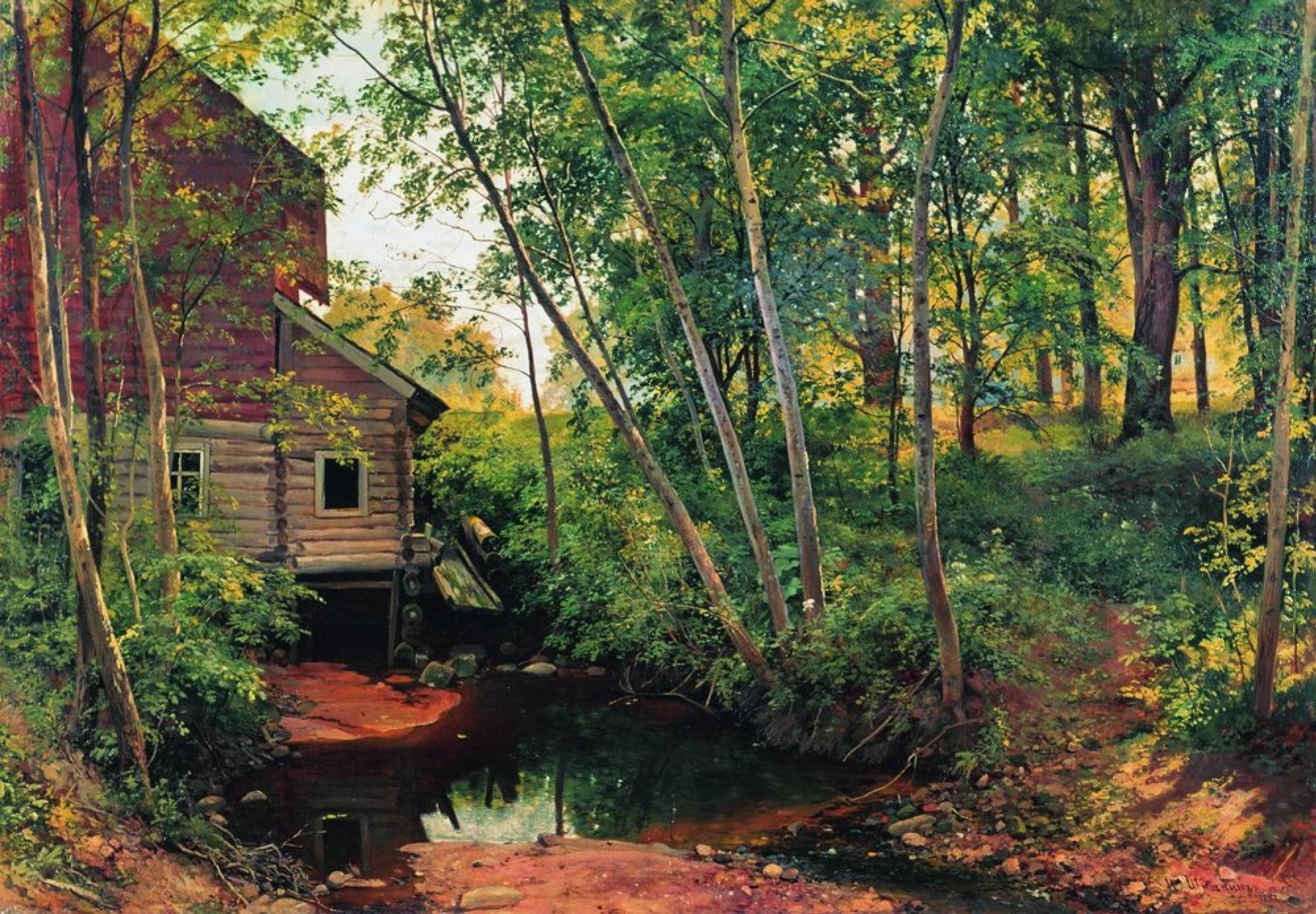Иван Шишкин, 1898 год, картина «Мельница в лесу».