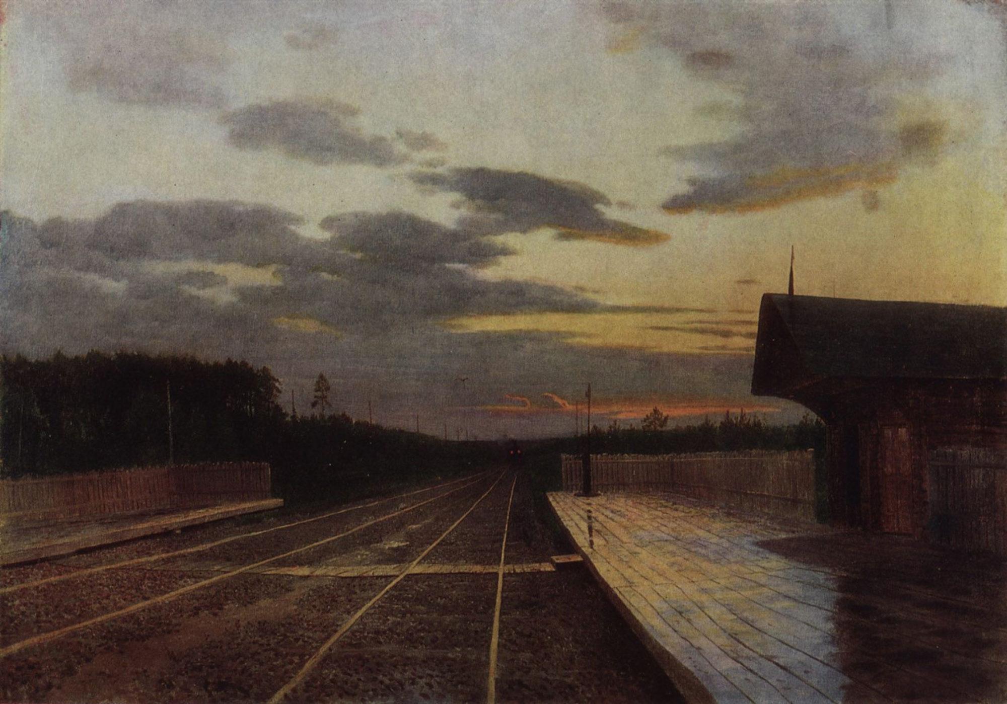Исаак Левитан, 1879 год, картина «Вечер после дождя».