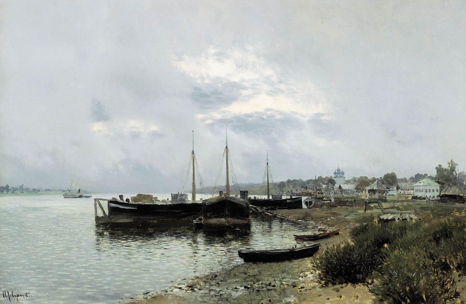Исаак Левитан, 1889 год, картина «После дождя. Плес».