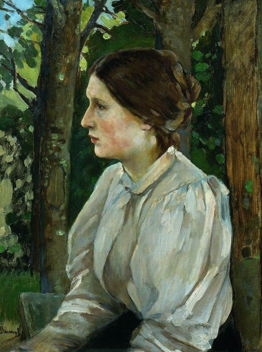 Виктор Васнецов, 1897 год, картина «Портрет Татьяны Викторовны Васнецовой, дочери художника».