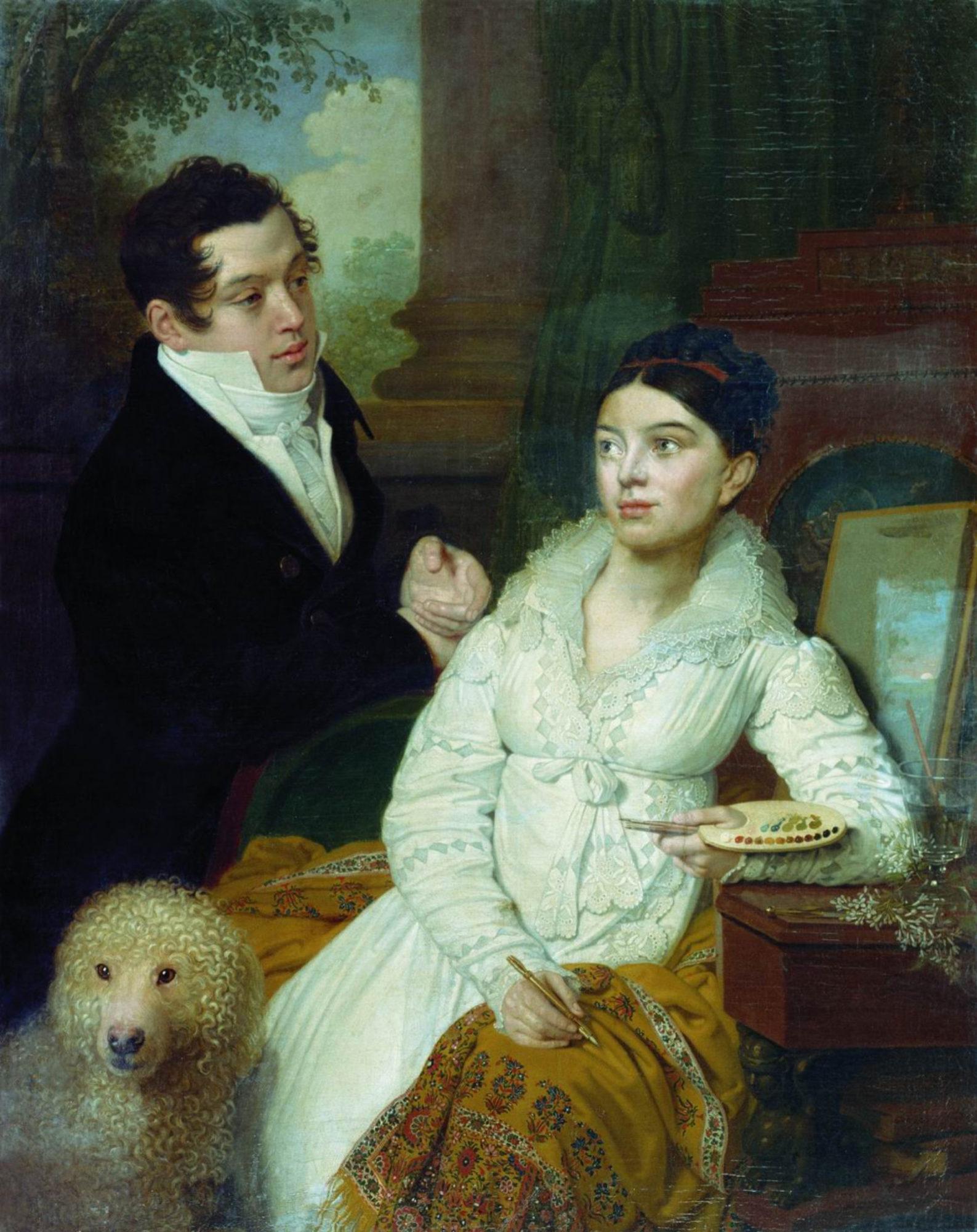 Владимир Боровиковский, 1814 год, картина «Портрет А.Г. и А.А. Лобановых-Ростовских».