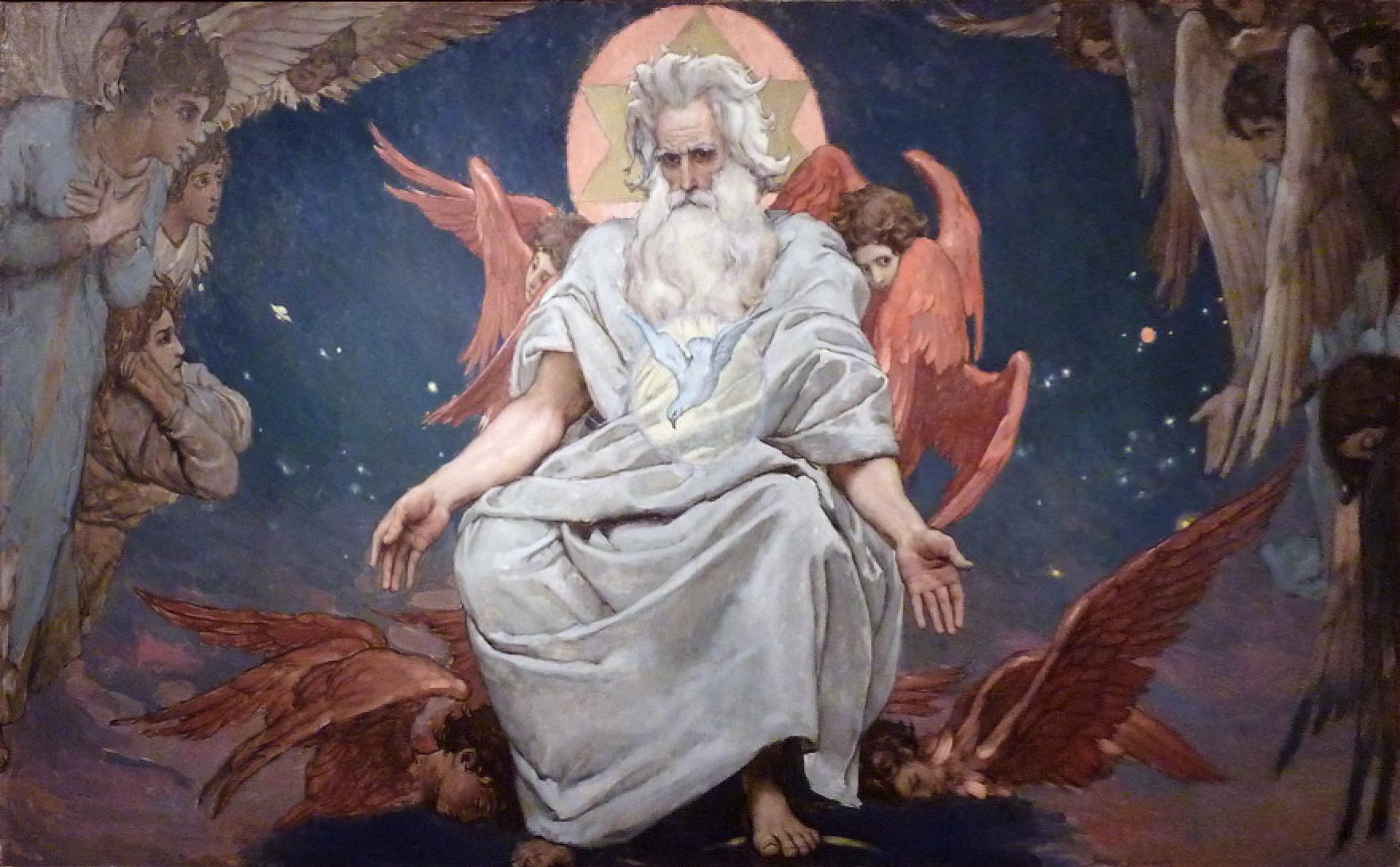 Виктор Васнецов, 1896 год, картина «Бог Саваоф».