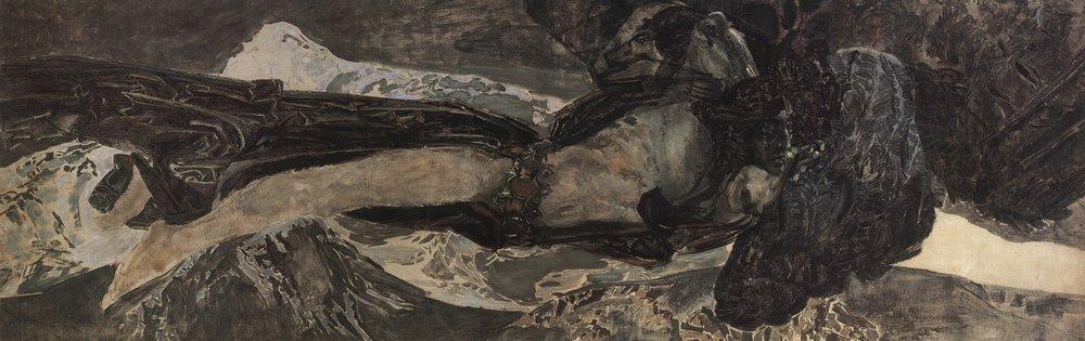Демон летящий. Михаил Врубель. 1899 год. Русский музей, Санкт-Петербург.