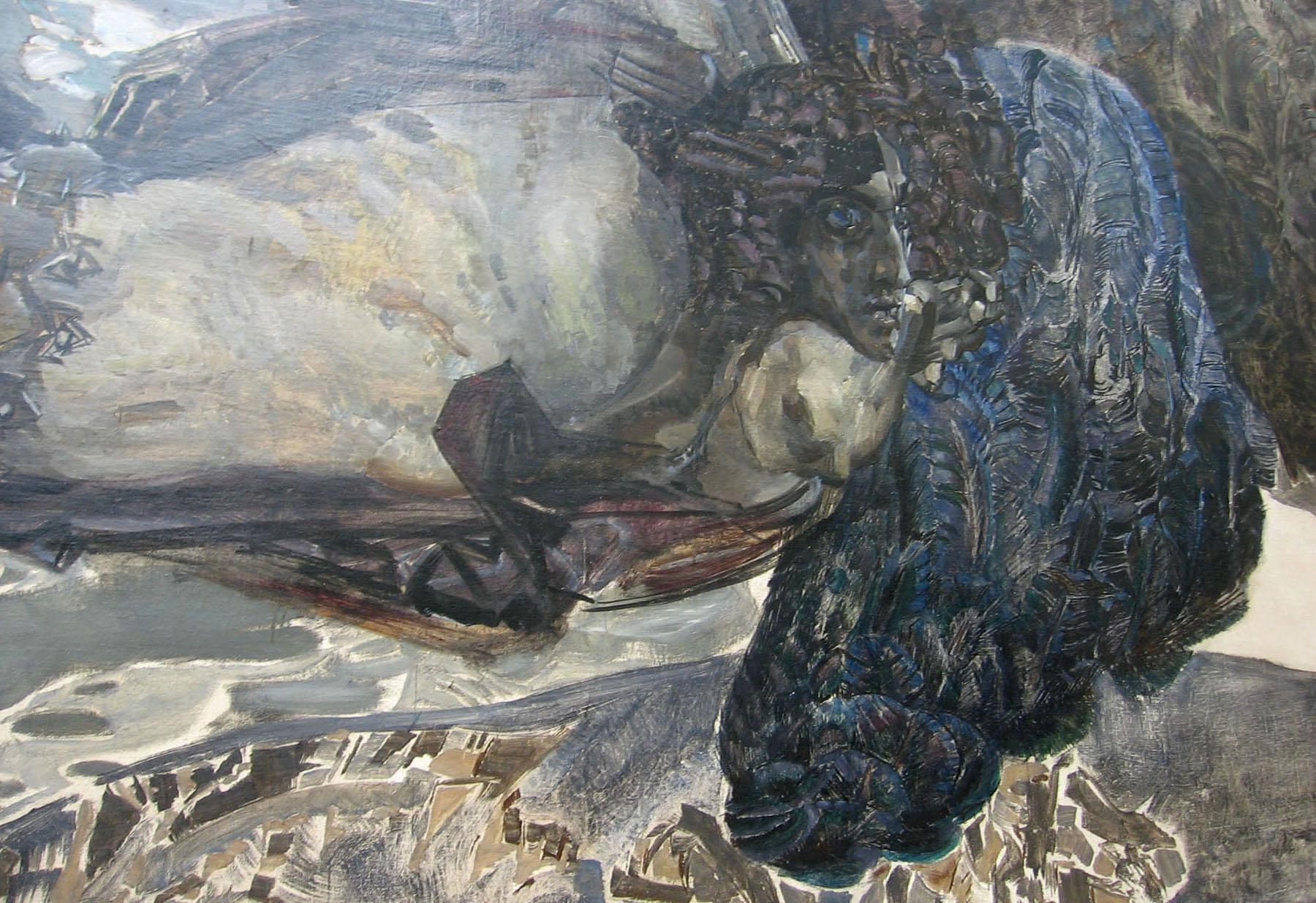 Фрагмент картины «Демон летящий».