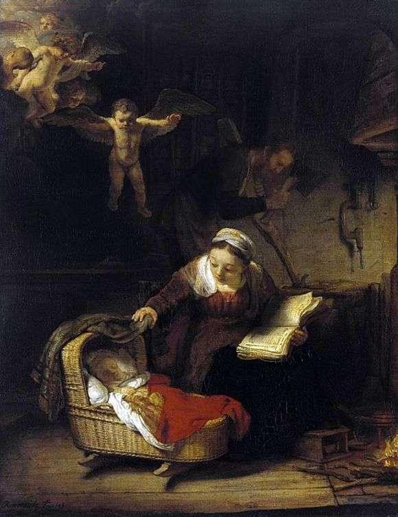Святое семейство. Рембрандт. 1645 год.