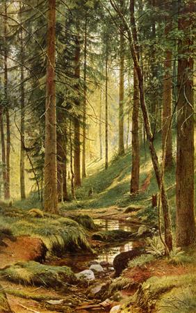 Иван Шишкин, 1880 год, картина «Ручей в лесу».