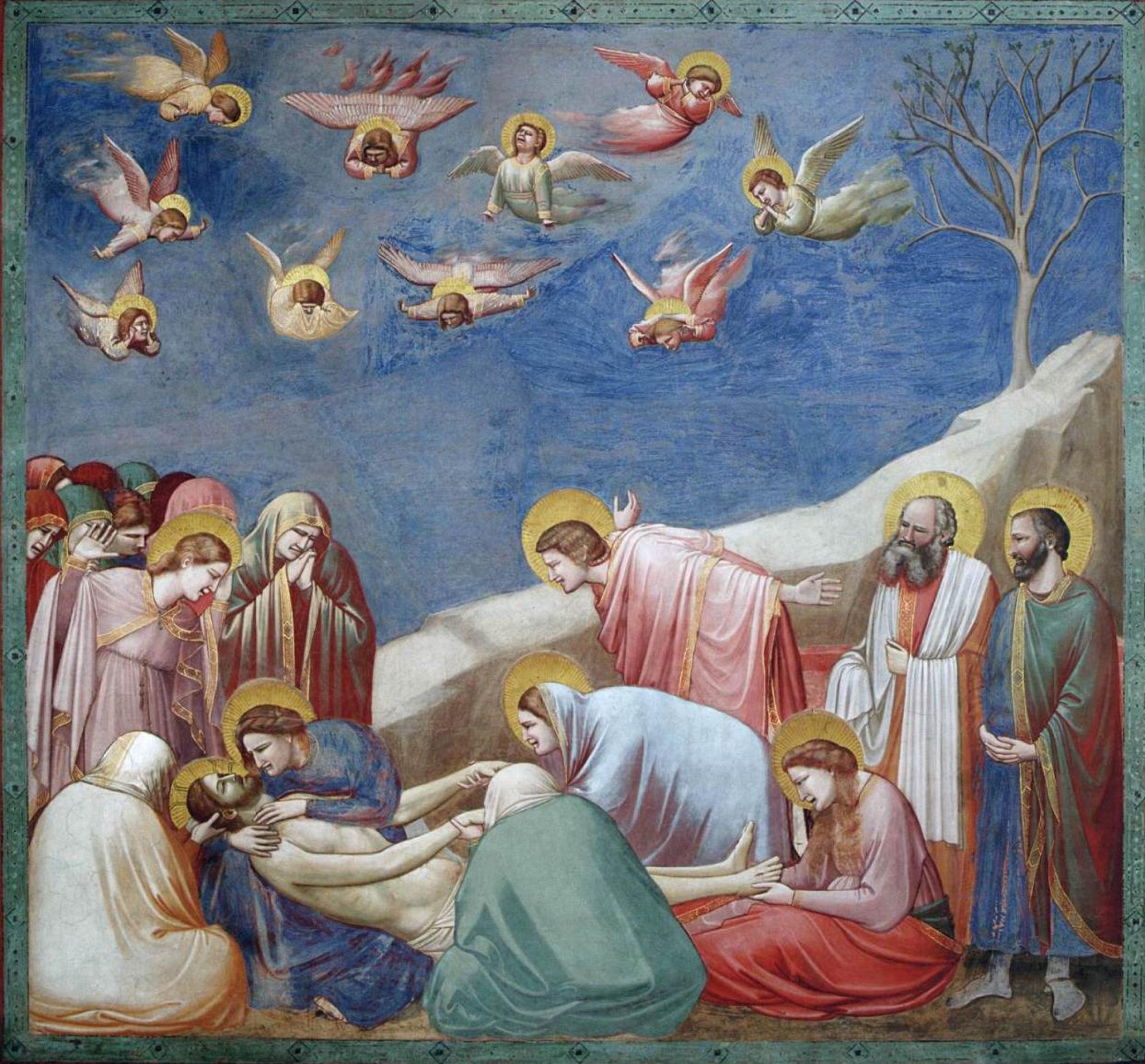 Джотто ди Бондоне, 1306 год, картина «Оплакивание Христа. Сцены из жизни Христа».