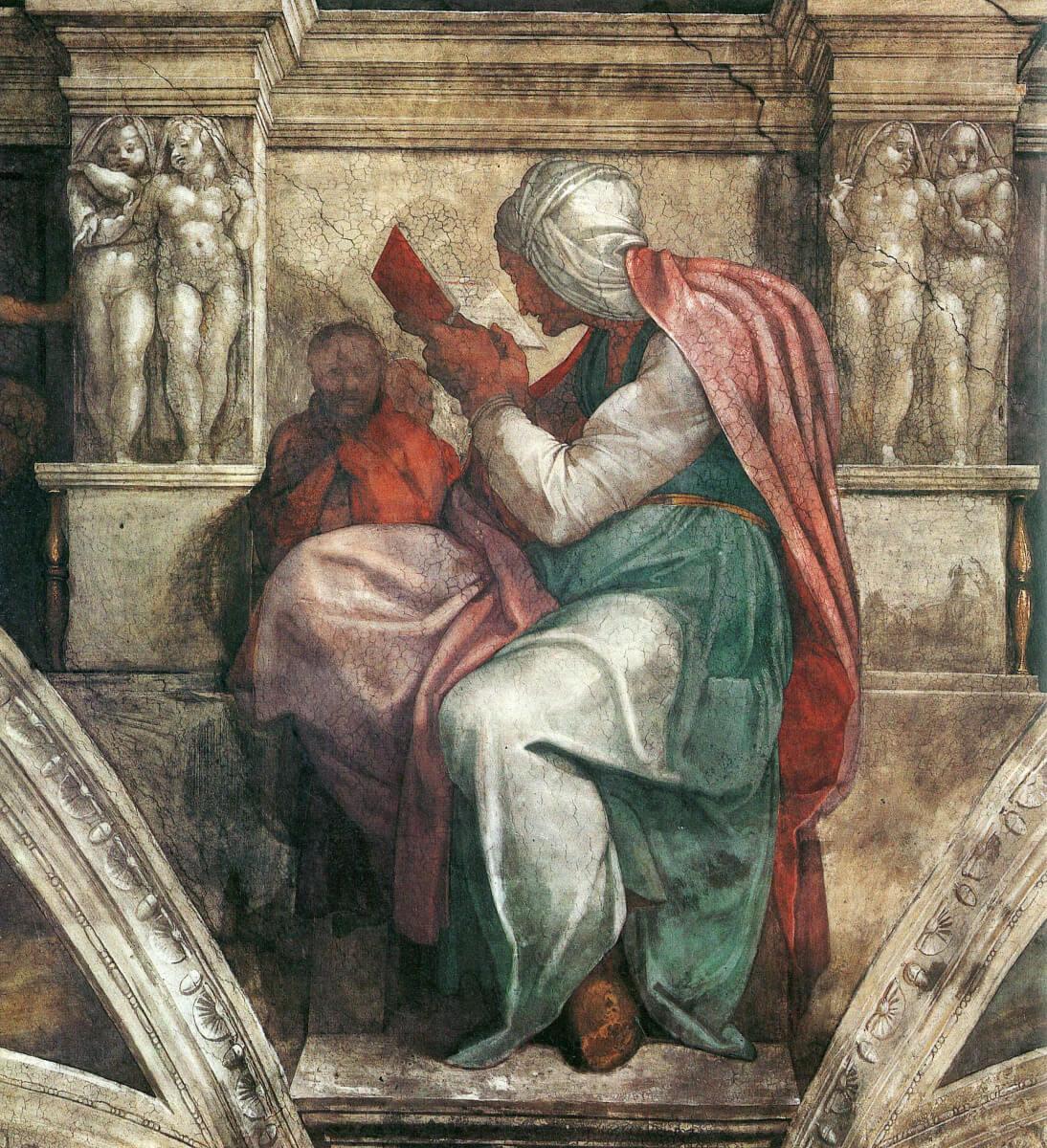 Микеланджело Буонарроти, 1508–1512 год, картина «Персидская сивилла».
