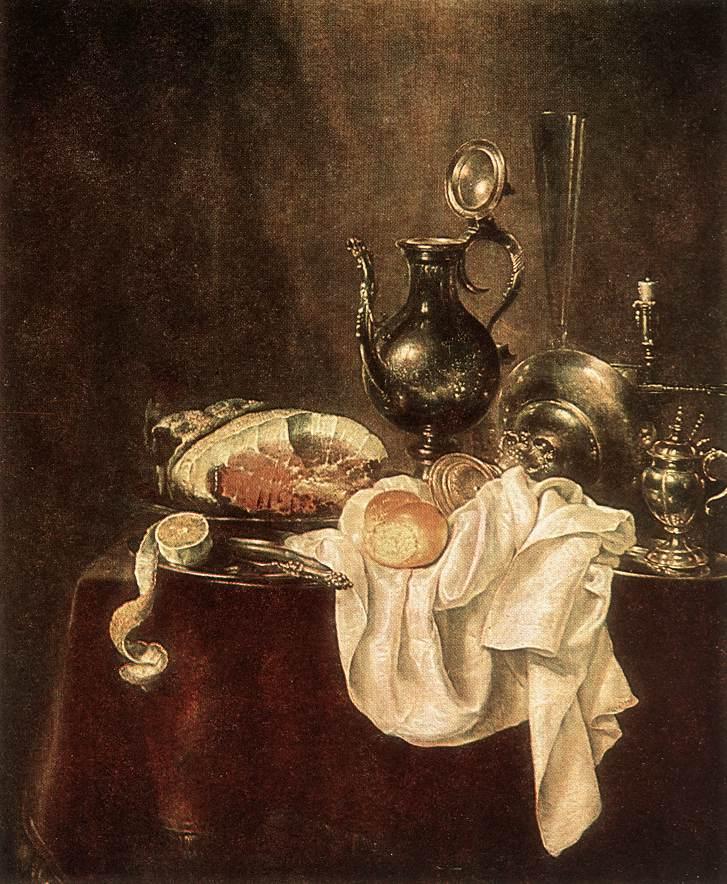 Виллем Клас Хеда. «Ветчина и серебро». 1649 год. Музей им. Пушкина.