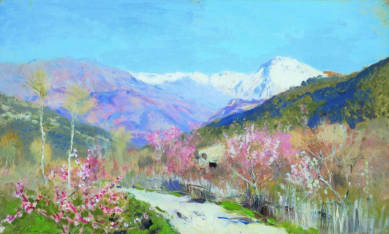 Весна в Италии, Исаак Левитан, 1890 год, Частная коллекция.