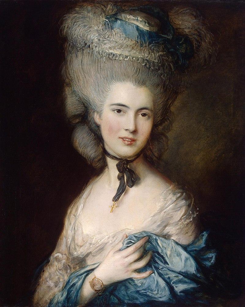 Томас Гейнсборо, 1780 год, картина «Дама в голубом»