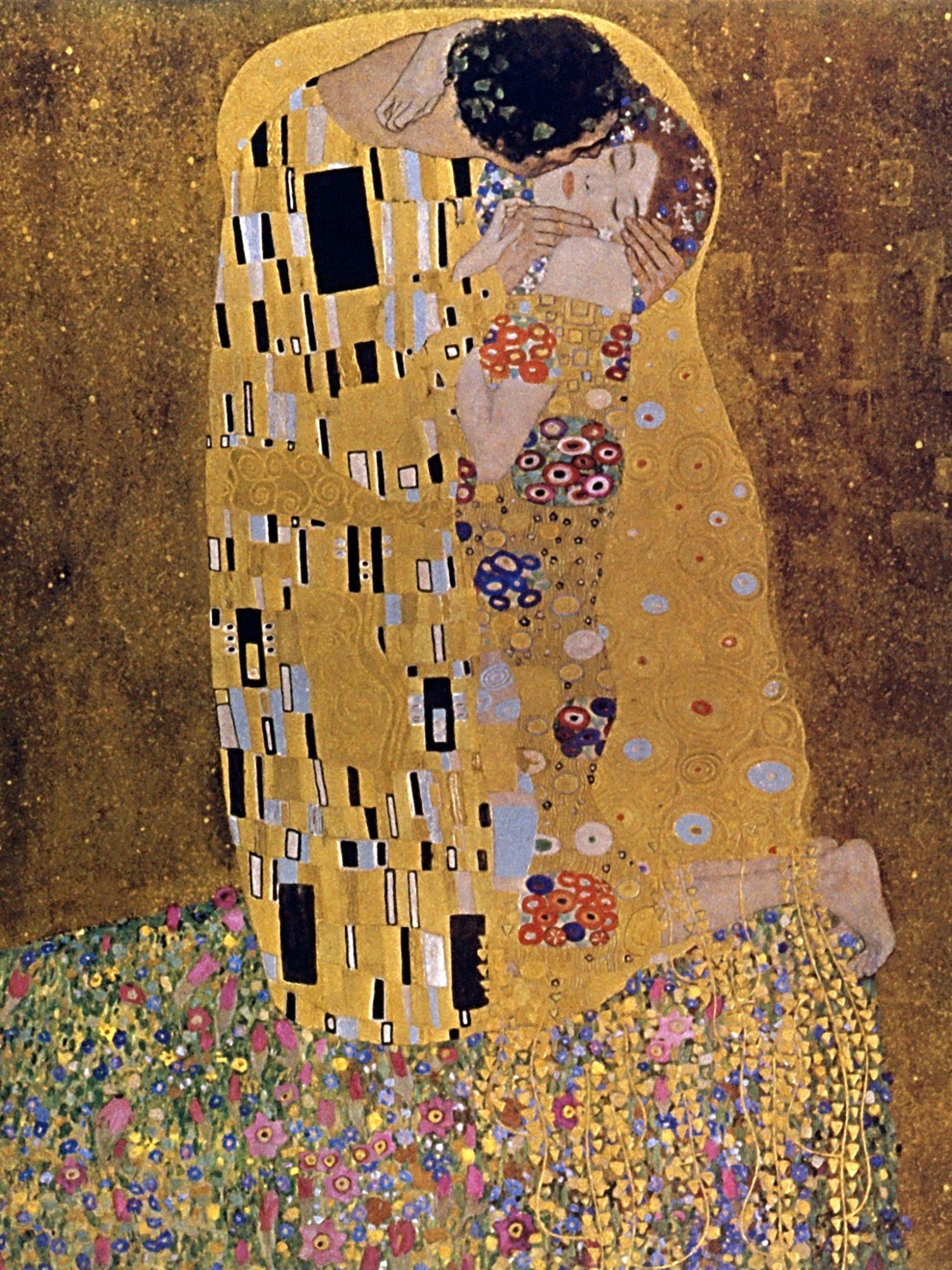Густав Климт, 1907-1908 годы, картина «Поцелуй»