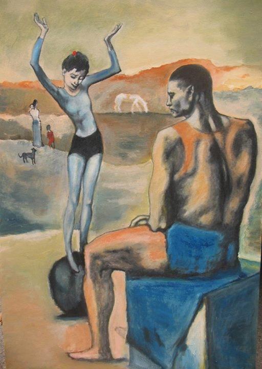 Пабло Пикассо, 1905 год, картина «Девочка на шаре»