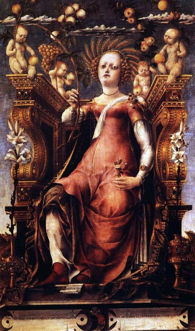 Муза Талия, Микеле-да Паннонио, 1450-1460гг, Музей изобразительных искусств.