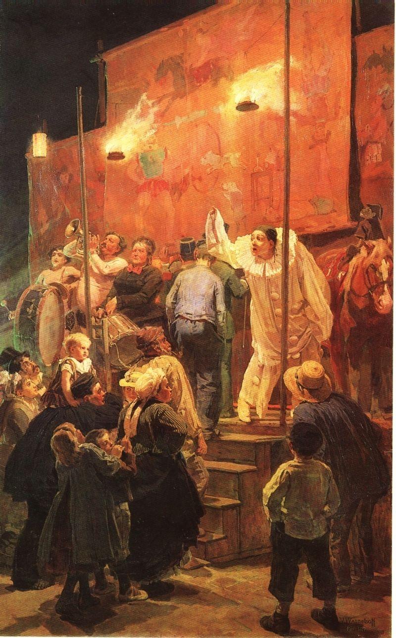 Акробаты. Виктор Васнецов. 1877 год, Частная коллекция.