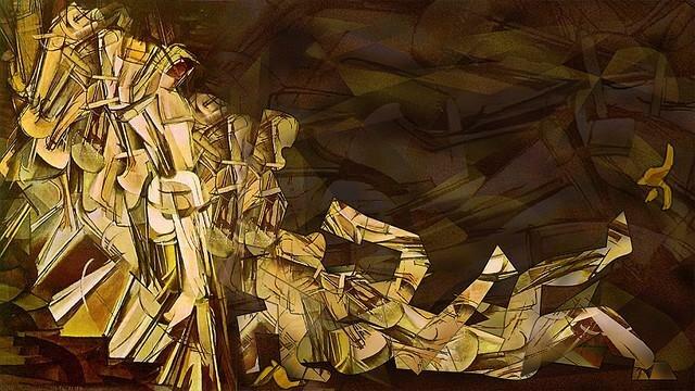 """Описание картины Марселя Дюшана """"Обнажённая, спускающаяся по лестнице"""""""