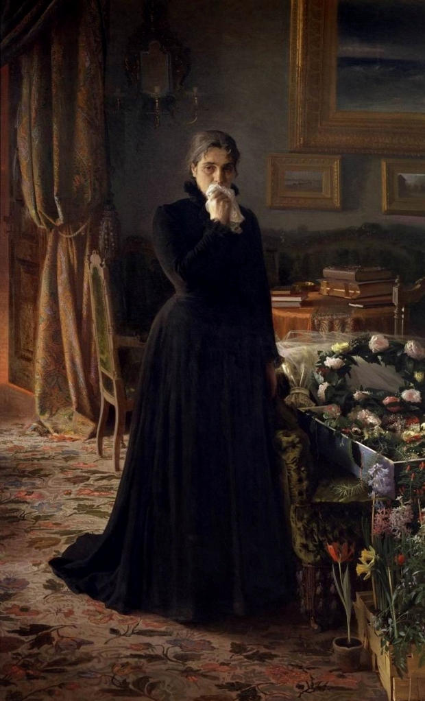 Неутешное горе. Иван Крамской, 1884 год, Третьяковка.