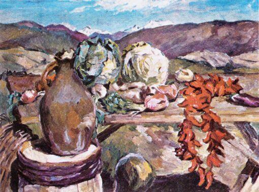 Овощи. Аристарх Лентулов, 1933 год, Третьяковка.