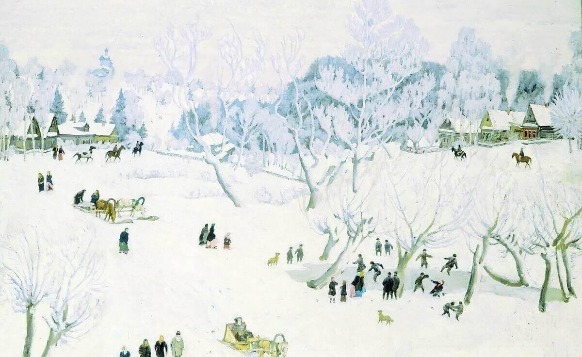 Волшебница-зима. Константин Юон. 1912 год, Русский музей, Санкт-Петербург.