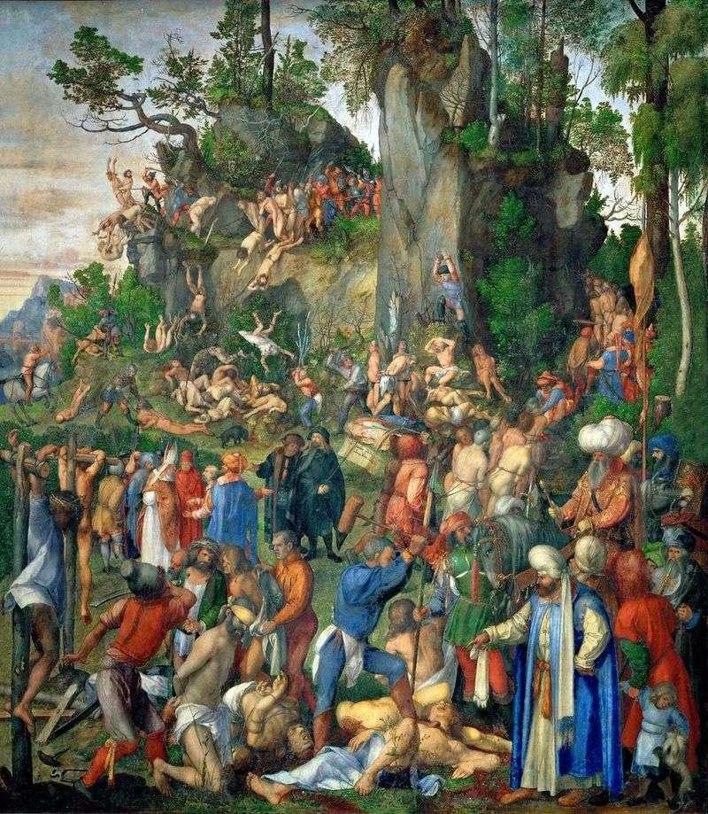 """Описание картины Дюрера """"Мученичество десяти тысяч христиан"""""""