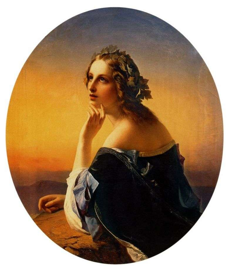 Мечтание. Тимофей Нефф. 1840 г. Третьяковка.