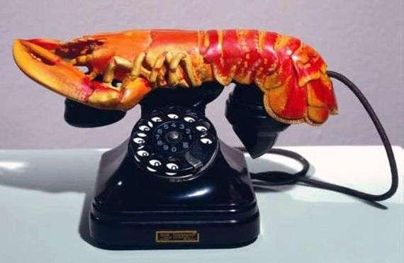 "Описание скульптуры ""Телефон-Омар"" Сальвадора Дали"