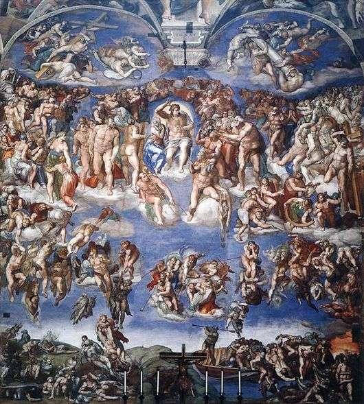"""Описание картины """"Страшный суд"""" Микеланджело"""