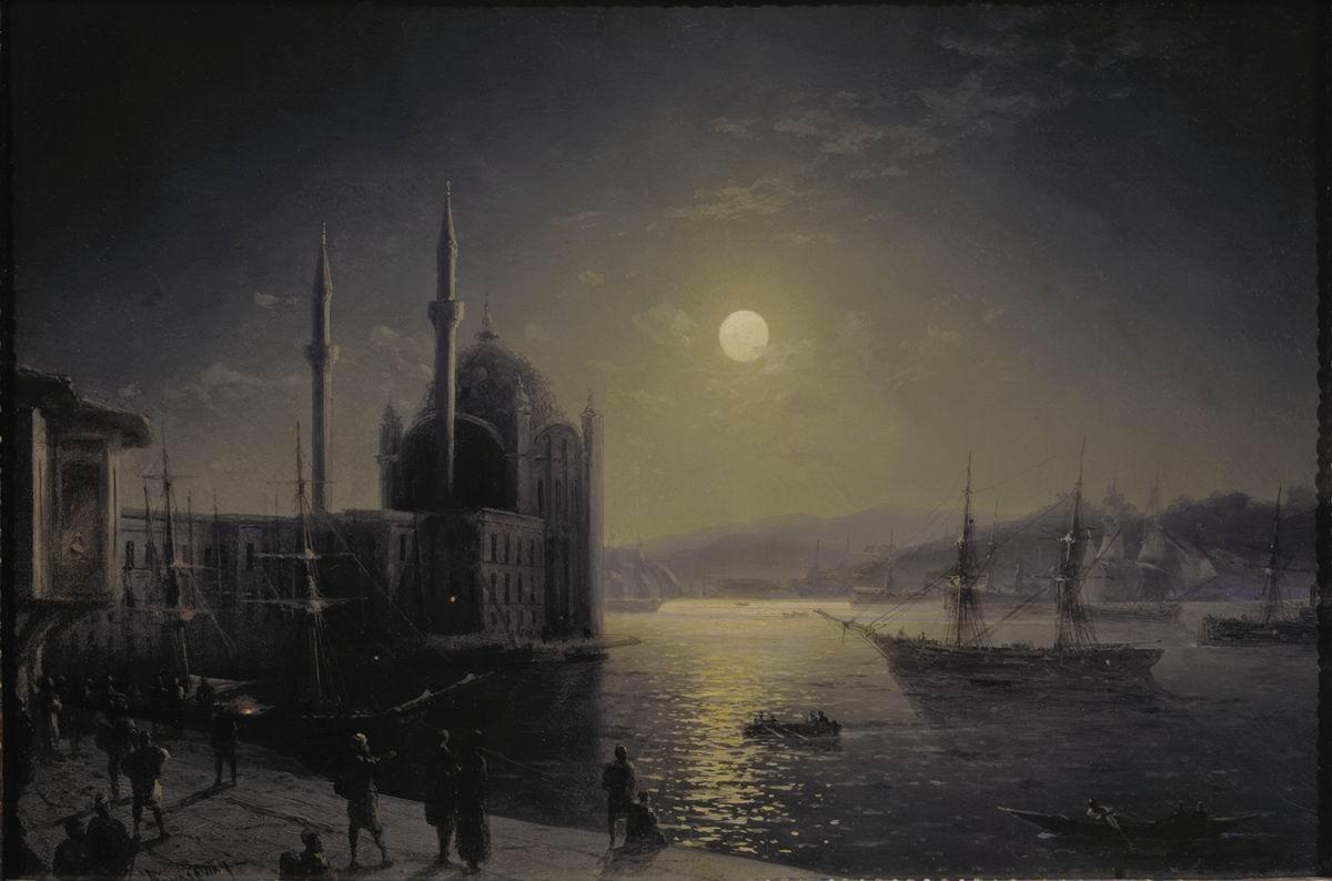 Лунная ночь на Босфоре. Иван Айвазовский. 1894 год. Третьяковка.