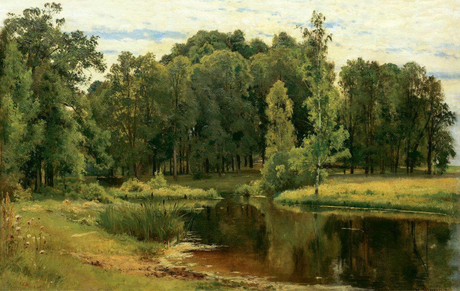 Пруд в старом парке. 1898 год. ИванШишкин. Третьяковка.