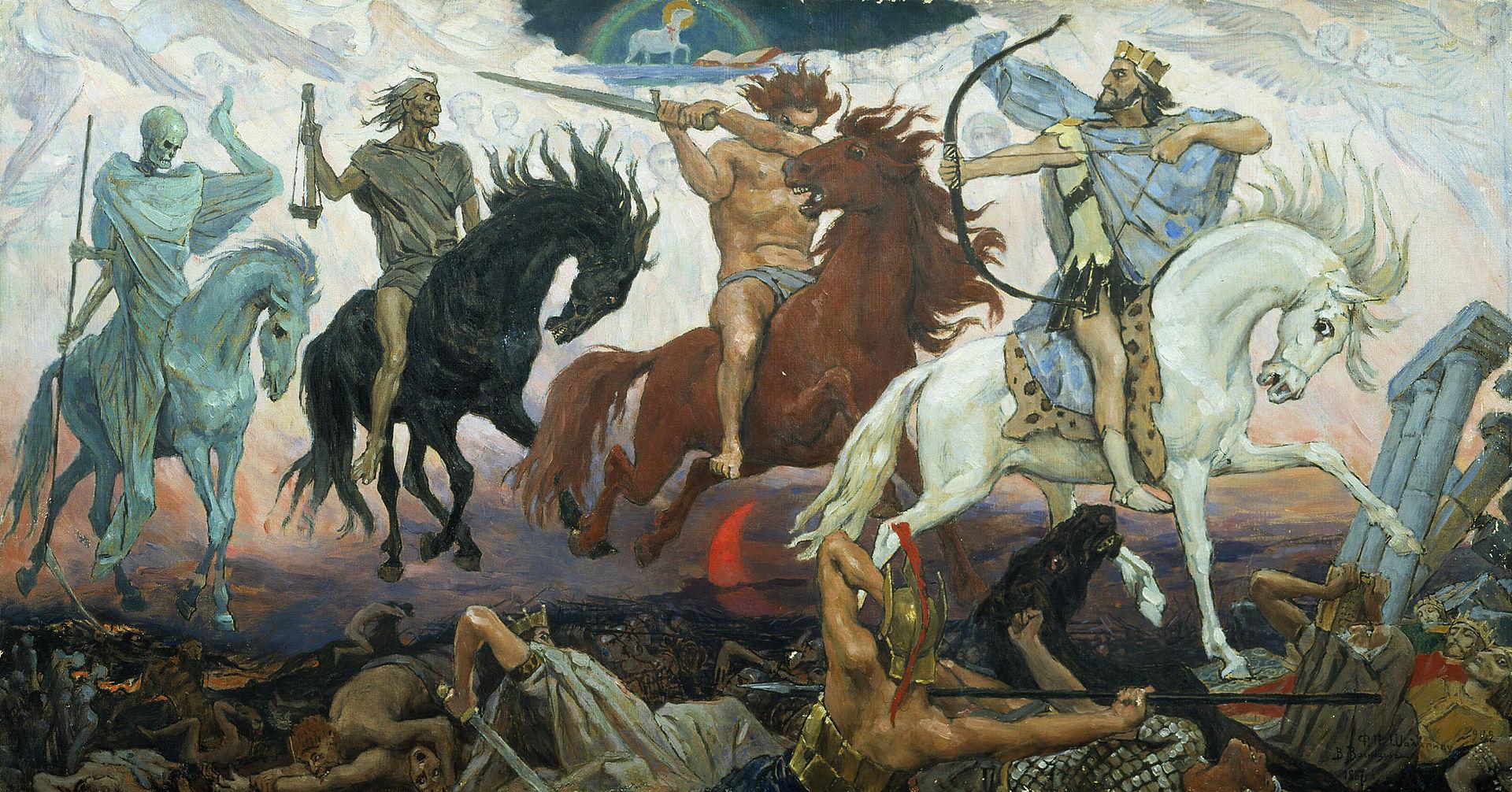 Воины апокалипсиса. Виктор Васнецов. 1887 год, Музей истории и религии, Санкт-Петербург.