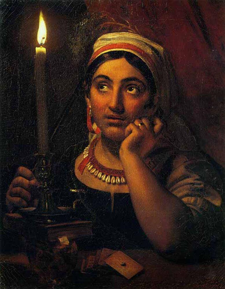 Гадалка со свечой. Орест Кипренский. 1830 год. Русский музей.