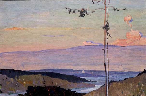 Левая часть композиции. Широта русской природы. 1944 год. Эскиз.