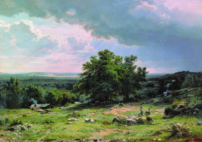 Вид в окрестностях Дюссельдорфа, Иван Шишкин, 1865 год, Русский музей, Питер