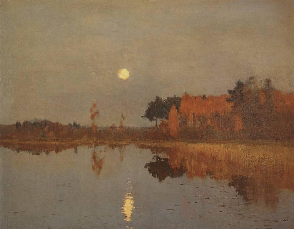 Сумерки. Луна. Исаак Левитан, 1899 год, Русский музей, Питер