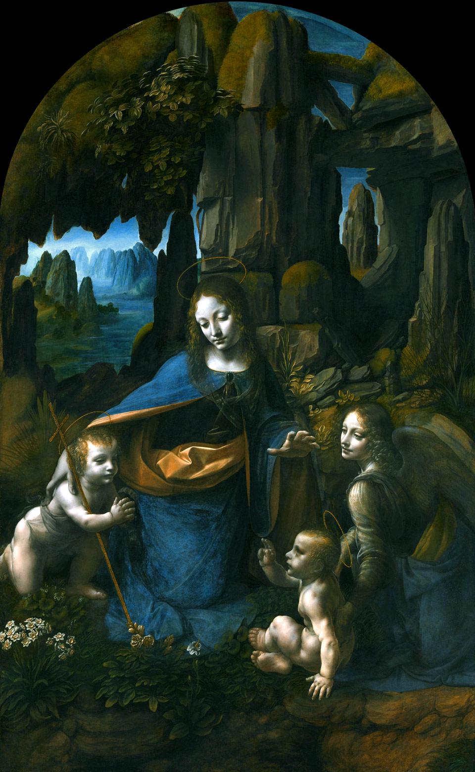 """Описание картины Леонардо да Винчи """"Мадонна в гроте"""""""