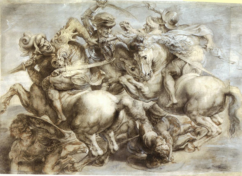 """Описание фрески Леонардо да Винчи """"Битва при Ангиари"""""""