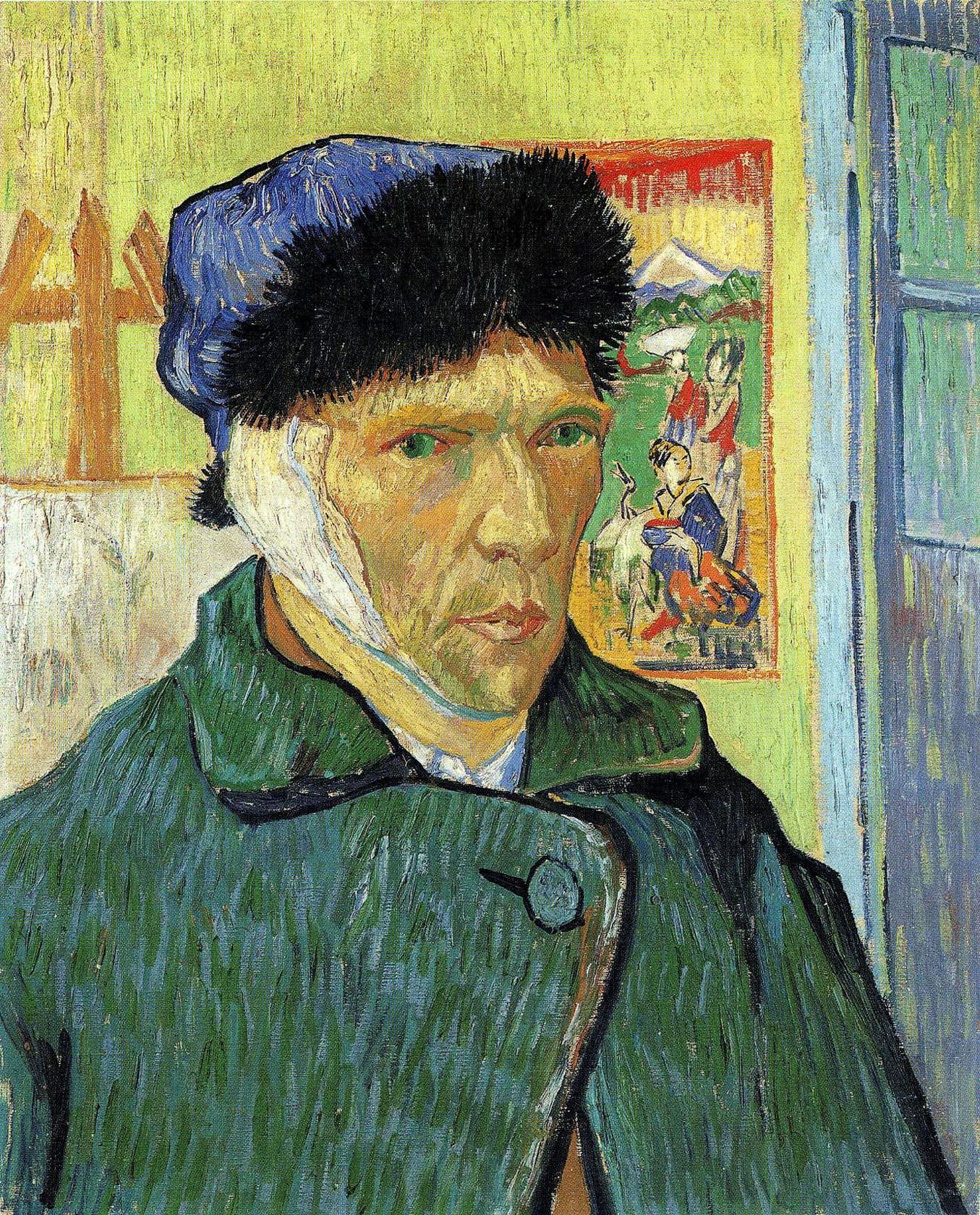 """Описание картины """"Автопортрет с перевязанным ухом"""" Ван Гога"""