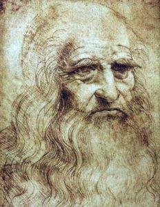 Описание картины Леонардо да Винчи «Туринский автопортрет»