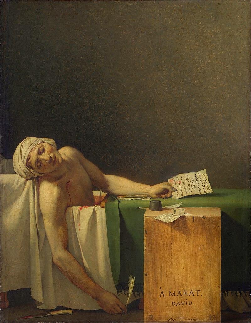 Жак Луи Давид, 1793 год, картина «Смерть Марата»