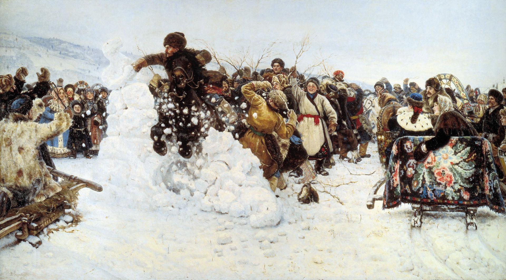 Василий Суриков, 1891 год, картина «Взятие снежного городка»