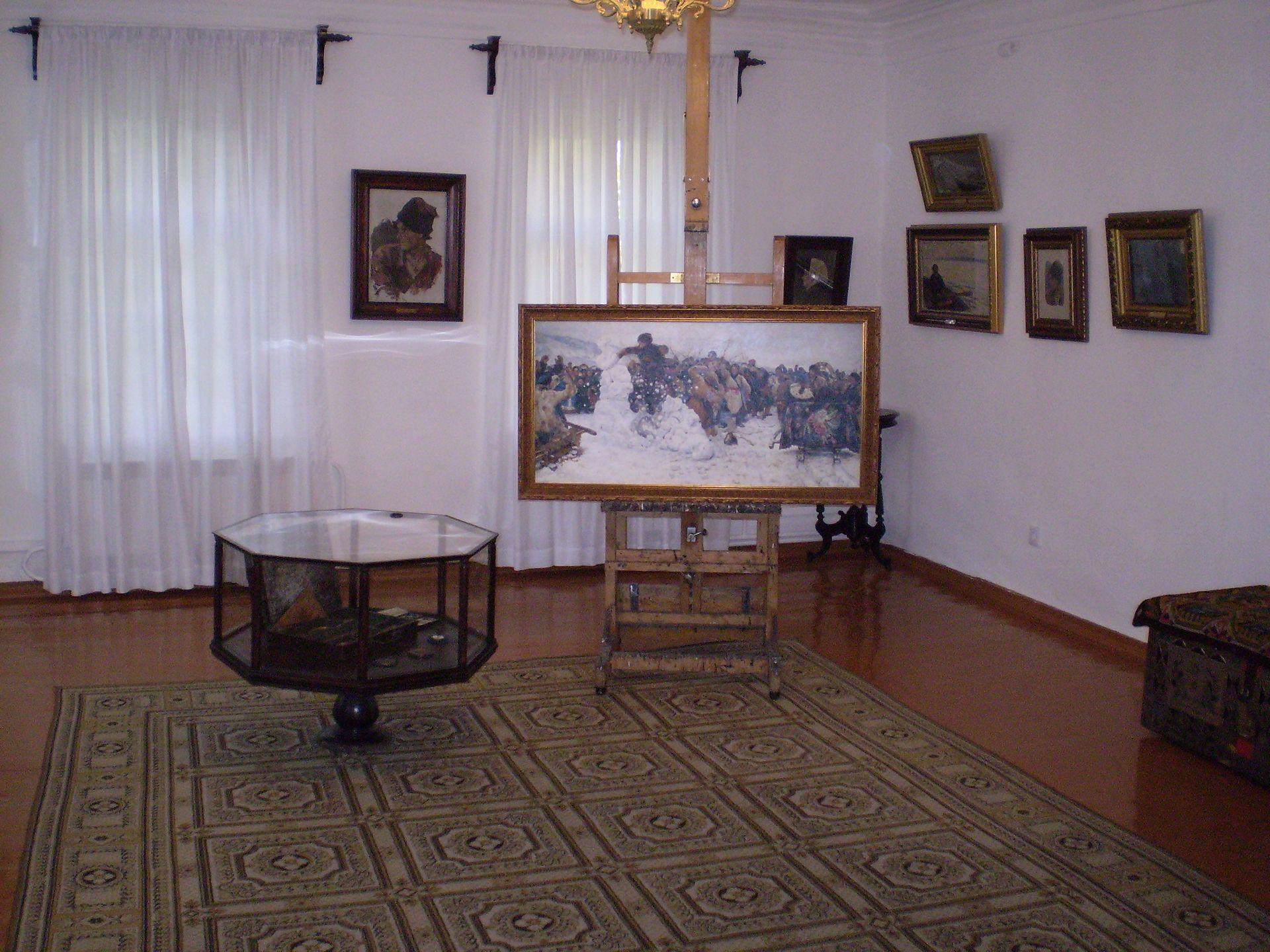 Мастерская живописца в музее-усадьбе В.И. Сурикова в Красноярске