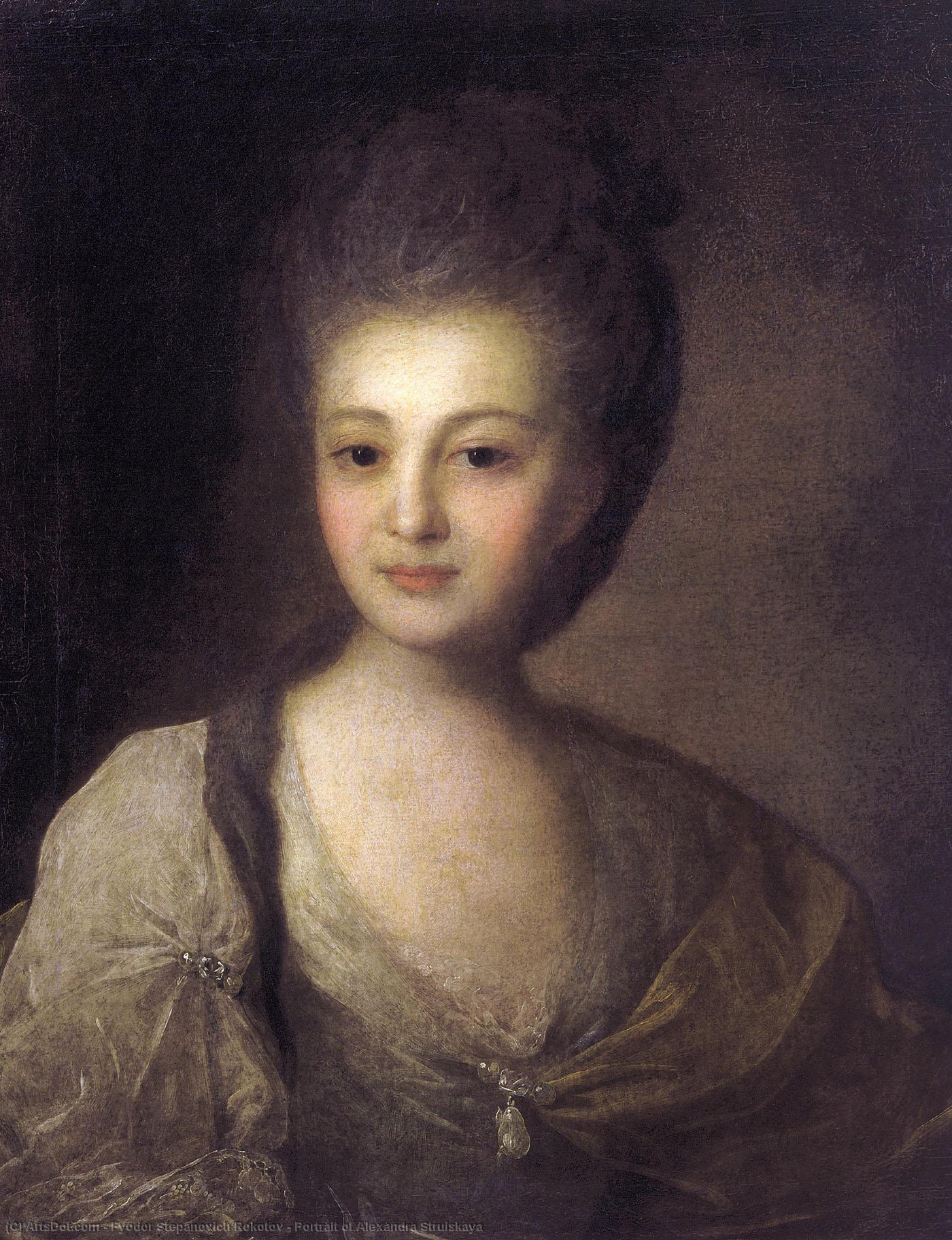 Федор Рокотов, 1772 год, картина «Портрет Александры Струйской»