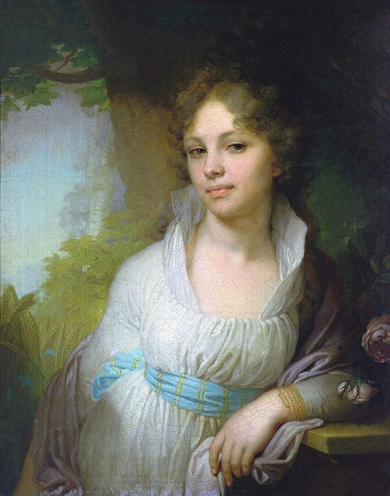 Владимир Боровиковский, 1797 год, картина «Портрет Марии Лопухиной»