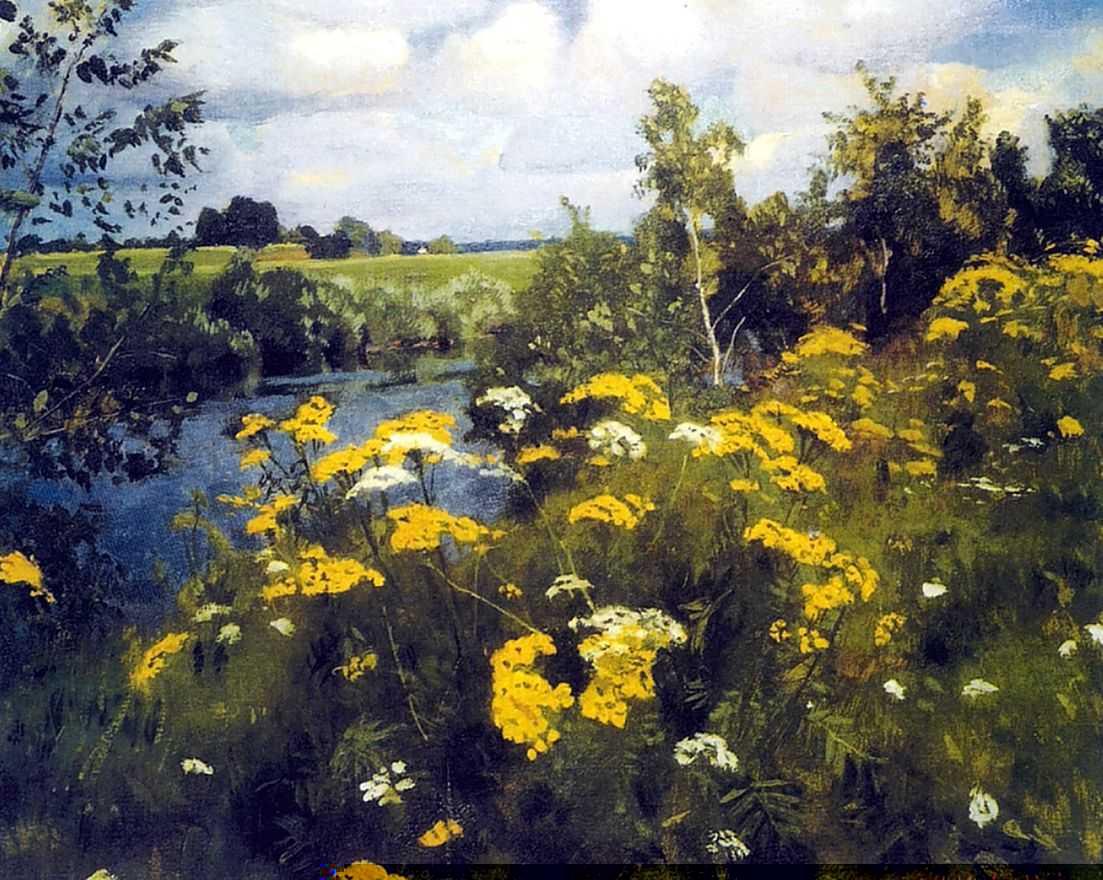 Аркадий Рылов, 1922 год, картина «Полевая рябинка»