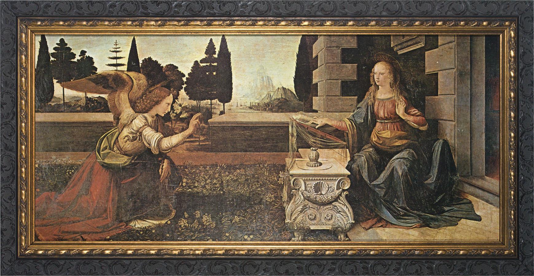 Леонардо да Винчи, 1472-1475 годы, картина «Благовещение»
